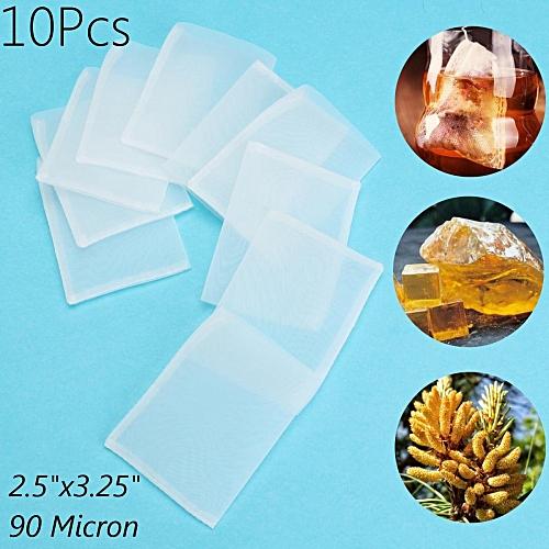 10Pcs 90 Micron 2.5''x3.25'' FDA Food Grade Nylon Screen Press Rosin Tea Bags