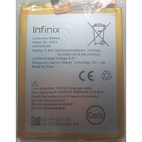 Infinix Hot 5 X559 battery