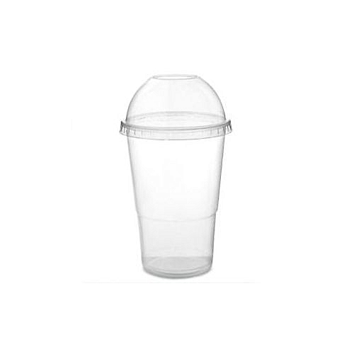 Disposable Smoothie Cups With Lids 50 Pcs