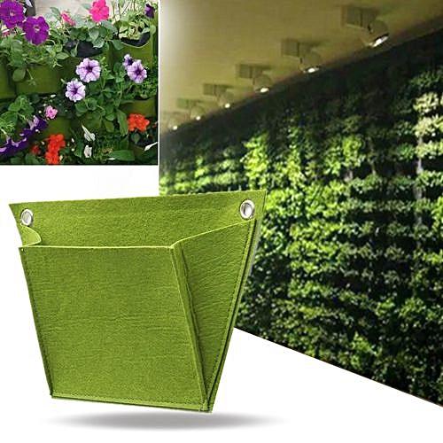 Non-wovend Durable Outdoor Indoor Wall Balcony Herbs Garden Hanging Planter Bag