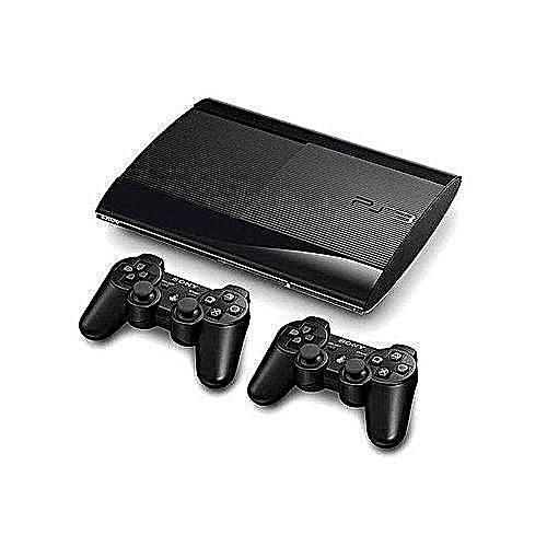 PS3 SuperSlim Console 500GB Pads + 20 Games Fifa &pes19