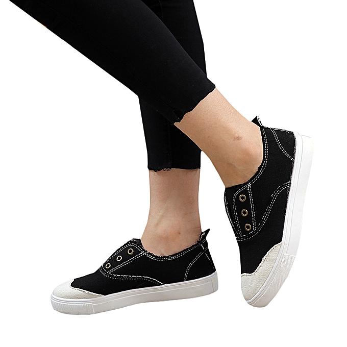 Women Casual Sneaker Low-cut Canvas
