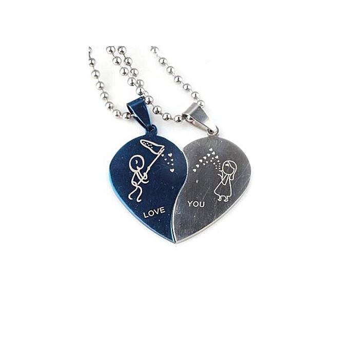 2dfbda19ae Fashion Blue Lans Couple Necklace Set Of 2 (Blue) | Jumia NG