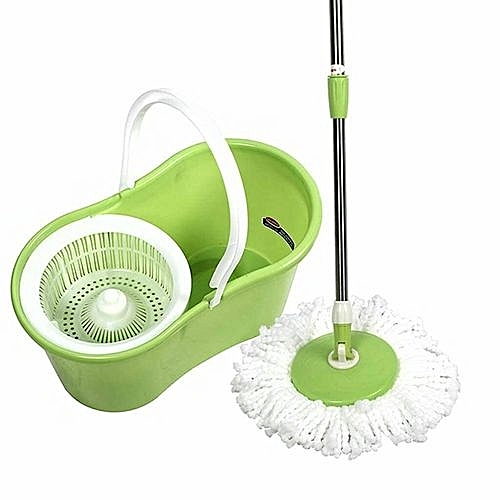 Mopping Stick And Bucket With Spin