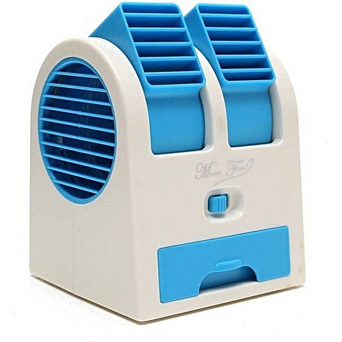 Mini USB Portable Desk Fan AC With Double Air Outlets