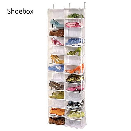 hanging door closet organizer. Plain Hanging Shoe Rack Storage Organizer Holder Folding Hanging Door Closet 26 Pocket Inside R