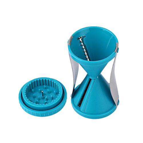 Funnel Grater Vegetable Fruit Cutter Spiral Slicer Twister Kitchen Tool Blue