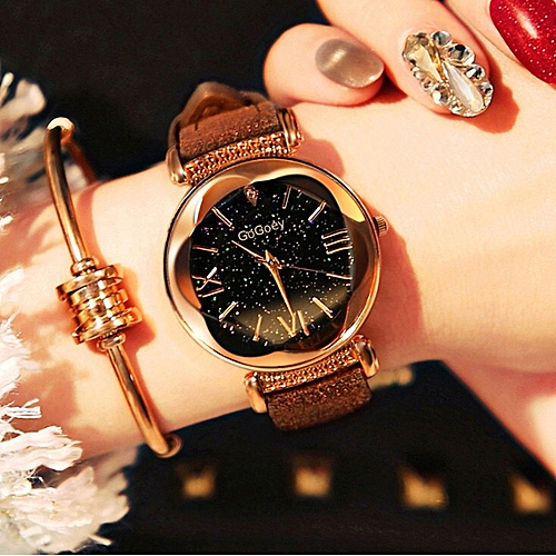 Women Elegant Quartz Wristwatch - Brown