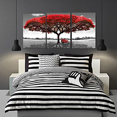 40x60cm Red Tree Modern Abstract Oil Painting On Canvas Art No