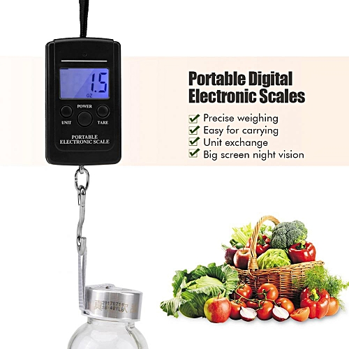 Luggage Scale 40KG Portable Digital Handy Scale Electronic Hanging Luggage Scale Weight Measuring Tool