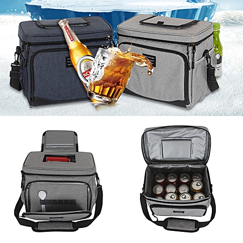 15L Waterproof Insulated Lunch Bag Box Cooler Bag Storage For Picnic/Camping