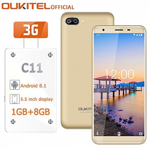"C11 - 5.5"" 3G 1GB/8GB OTA Bluetooth Android 8.1 Fingerprint 3400mAh EU - Gold"