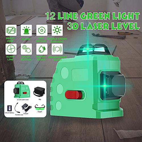 12 Lines 360? Laser Level Self Leveling Horizontal & Vertical Cross 3D Green?no Bracket?
