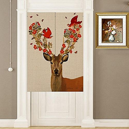 Elk Door Curtain Of Cotton And Linen Curtain # 1