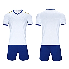 27a297378e0 Men Soccer Football Jerseys Clothing Uniforms Suit Short Sleeve O-neck  Printing-White
