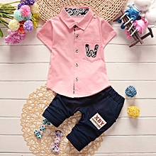 fd0e4e82e3b Baby Outfit Infant Baby Boys Girls Letter Pocket T-Shirt Tops Pants 2Pcs  Set Outfits