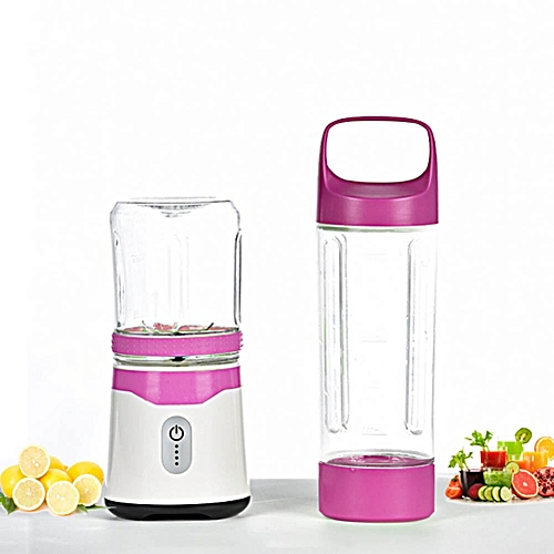 Portable USB Rechargeable Shakes Smoothies Juicer Cup Blender Food Fruit Mixer Useful(Purple)