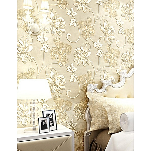 3D Wallpaper Polyester-brown