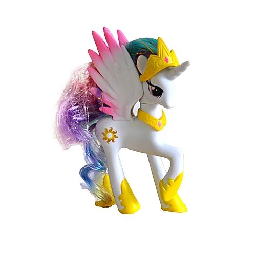 BlueLife Unicorn With Wings Figure Desktop Decoration #2- White & Yellow