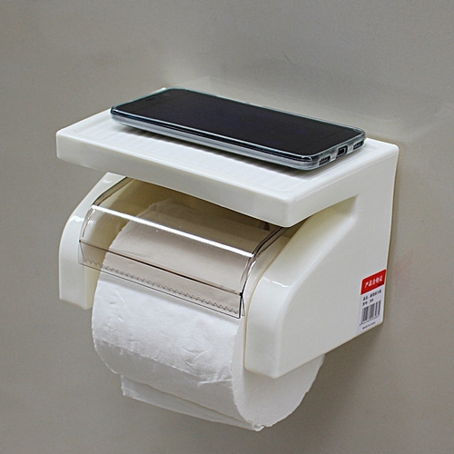Toilet Roll Tissue Paper Toilet Paper Holder - White