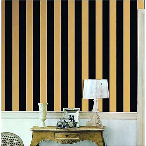 Gold & Black Stripe Wallpaper Exclusive - 5.3 SQM