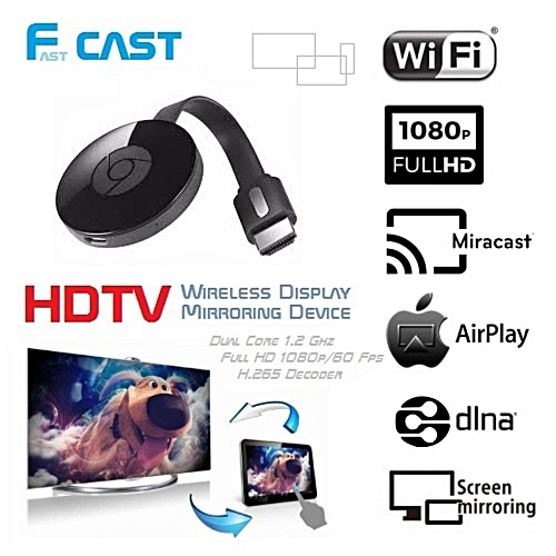 HDMI Wireless Display Receiver Fast Cast (Black)