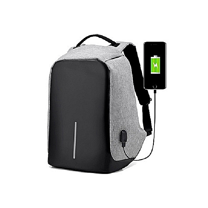 Backpack Waterproof Outdoor Laptop Travel Bag USB Charging Anti Theft  Backpack Grey 4c93708bfd39b