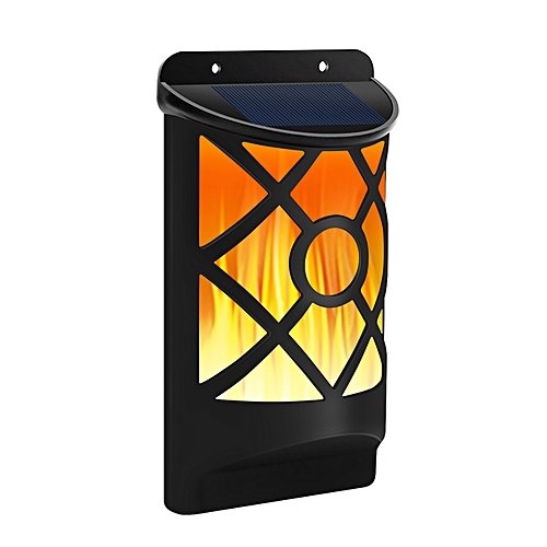 QUKAU Solar Lamp Outdoor Wall Lamp LED Flame Lamp Garden Garden Decorative Lamp Household Road Light Induction