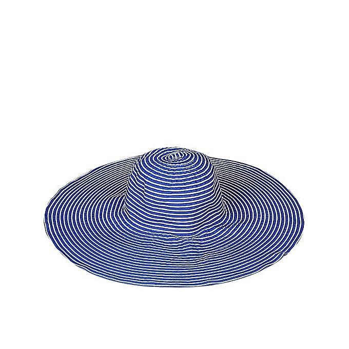 SUZANNE BETTLEY 2 Coloured Beach Hat- Blue   White  ef99856e803