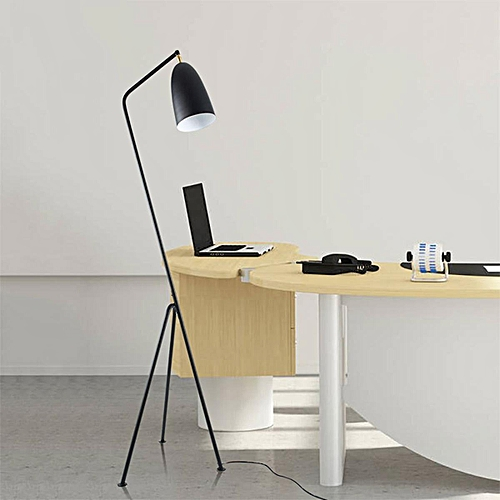 Black Modern Triangle Floor Lamp Light Metal Office Studio Home