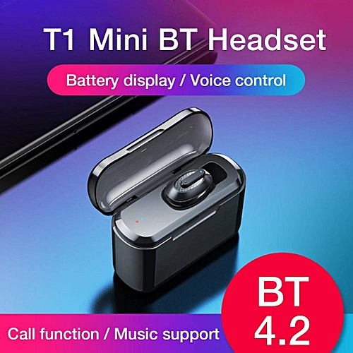 Earbuds True Wireless Noise Reduction Mini Earphones -black