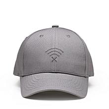 07f4e516dc4 Unisex Baseball Cap Wifi Embroidered Cotton Cap Visor Hat Dad Hats Running  Grey