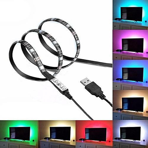 USB Flexible Cuttable LED String Light 5050 RGB Waterproof TV Background Light