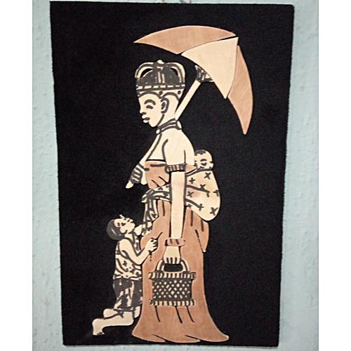Handmade Art Work Of An African Caring Mother 02