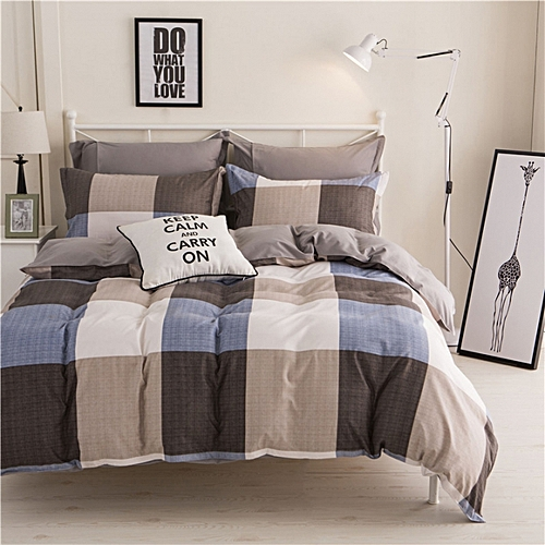 4Pcs Bedding Set Aloe Cotton Flexibility Zipper Design
