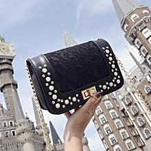 Concana Shop Fashion Women Pearl Leather Crossbody Bag Coin Bag Phone Bag  Shoulder Bag eb0341e3ff