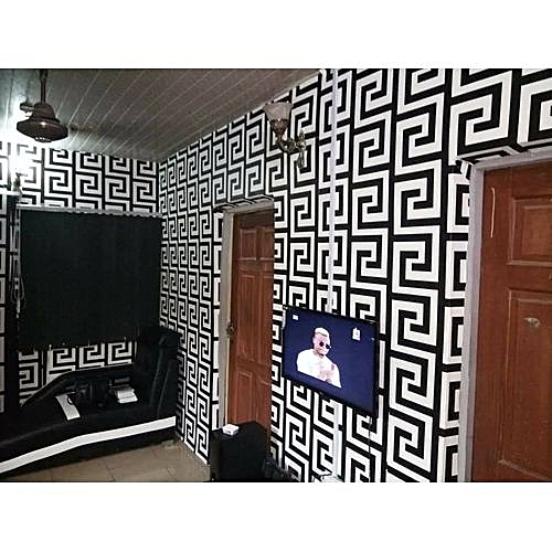 Whiterosy wallpapers Classy Monochrome Pattern Wallpaper - 5.3 Sqm