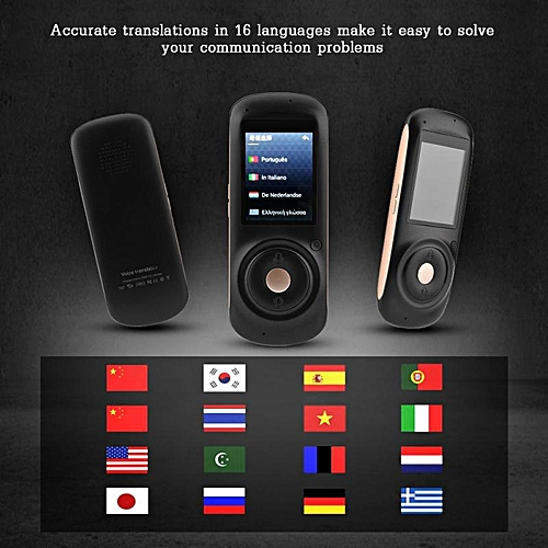 Portable Intelligent Real Voice Translator 2.4-inch Touch Color Screen Support All Multi-Language Accurate Travel Translator New WAAAA