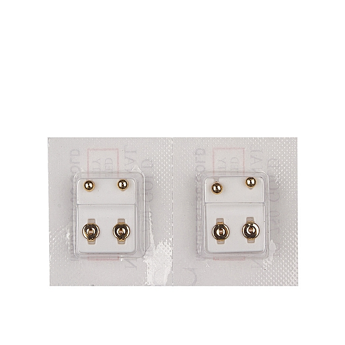 New Born Baby Piercing Earring 2 Set Gold