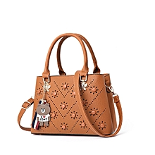 4e18643416 Womens Concise Tote Satchel Handbag - Brown