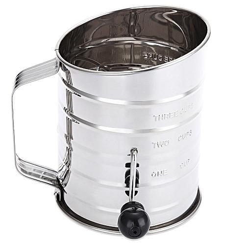 Stainless Steel Sieve Cup Powder Flour Mesh Baking Tool