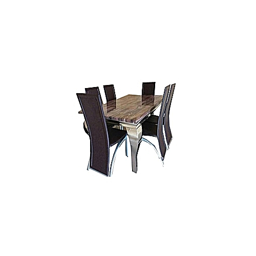 6 Seater Oxlyn Marble Dining Set 2 Furniture