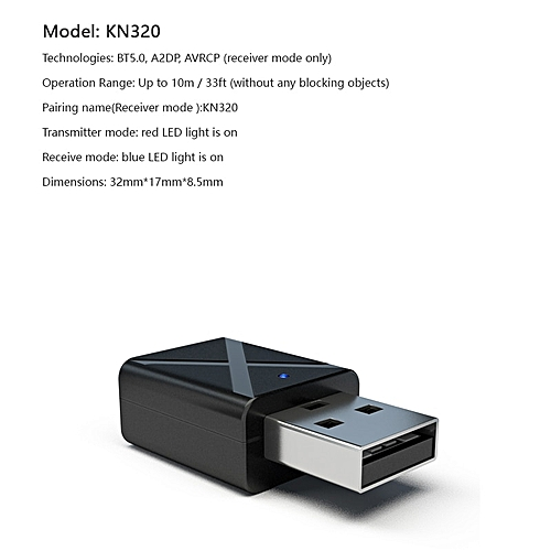 Wireless Bluetooth 5.0 Transmitter Receiver Mini Stereo Adapter For Car Music TV CD Player SL@88