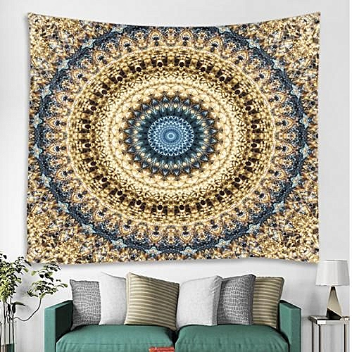 3D Digital Print Living Room Wall Tapestry-Tan