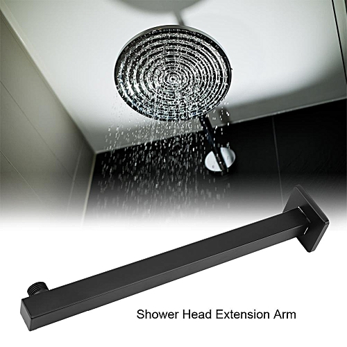 14.5inch Wall Mounted Brass Square Straight Shower Head Extension Arm Bathroom Accessory