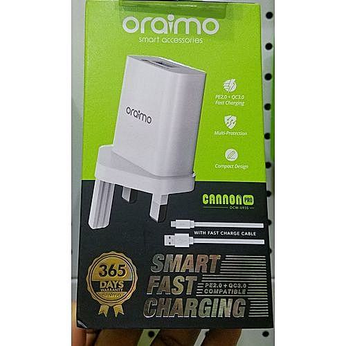 Oraimo 3x Fast Charger