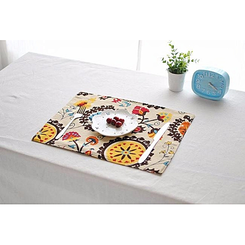 30x40cm Cotton Linen Tableware Mat Table Runner Tablecloth Desk Cover Heat Insulation Bowl Pad