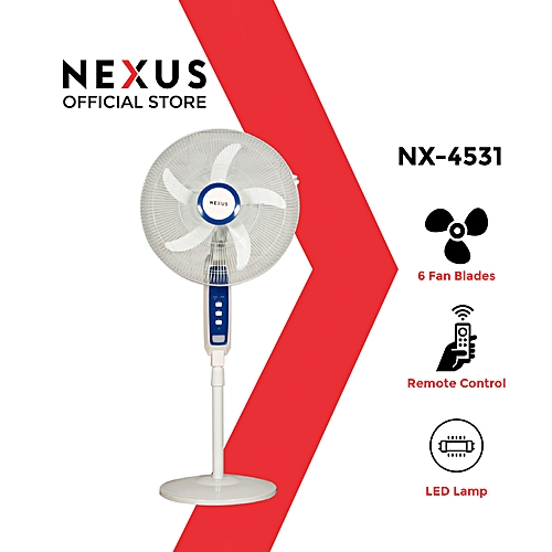 """18"""" Rechargeable Fan With USB + Remote - S-4531R"""