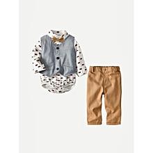 8462c4377c Toddler Boys Printed Jumpsuit & Vest & Pants - Multicolor