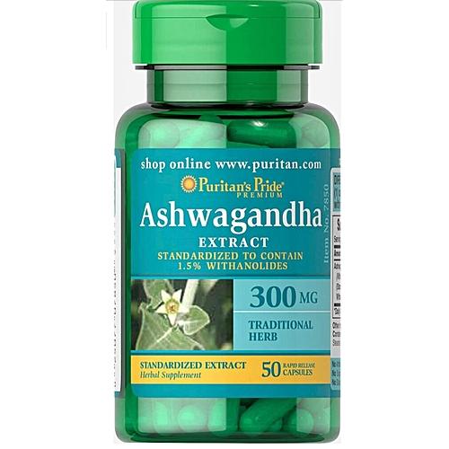 puritan's pride ashwagandha standardized extract 300 mg50